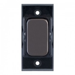 Selectric GRID360 Black Nickel 10A 1 Way Switch Module with Black Insert