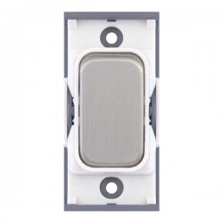 Selectric GRID360 Satin Chrome 10A 1 Way Switch Module with White Insert