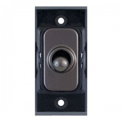 Selectric GRID360 Black Nickel 10A Intermediate Toggle Switch Module with Black Insert