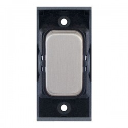 Selectric GRID360 Satin Chrome 10A 1 Way Switch Module with Black Insert