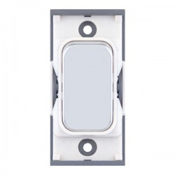 Selectric GRID360 Polished Chrome 10A 2 Way Switch Module with White Insert