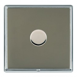 Hamilton Linea-Rondo CFX Bright Chrome/Black Nickel Push On/Off Dimmer 1 Gang 2 way with Bright Chrome In...