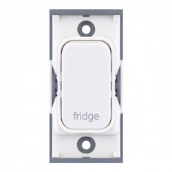 Selectric GRID360 White 20A DP Switch Module Marked 'fridge' with White Insert