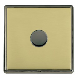 Hamilton Linea-Rondo CFX Black Nickel/Polished Brass Push On/Off Dimmer 1 Gang 2 way with Black Nickel In...