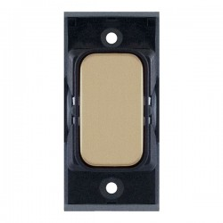 Selectric GRID360 Satin Brass Blank Module with Black Insert