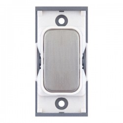 Selectric GRID360 Satin Chrome Blank Module with White Insert