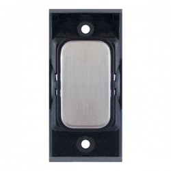 Selectric GRID360 Satin Chrome Blank Module with Black Insert