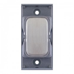 Selectric GRID360 Satin Chrome Blank Module with Grey Insert