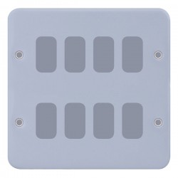 Selectric Metal Clad GRID360 8 Gang Faceplate