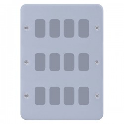 Selectric Metal Clad GRID360 12 Gang Faceplate