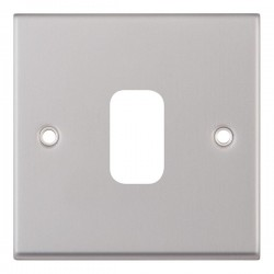 Selectric 7M-Pro GRID360 Satin Chrome 1 Gang Faceplate