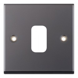 Selectric 7M-Pro GRID360 Black Nickel 1 Gang Faceplate