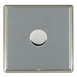 Hamilton Linea-Rondo CFX Satin Nickel/Satin Steel Push On/Off Dimmer 1 Gang 2 way with Satin Steel Insert