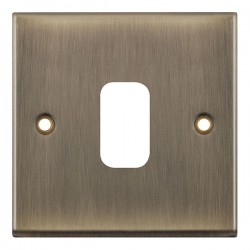 Selectric 7M-Pro GRID360 Antique Brass 1 Gang Faceplate