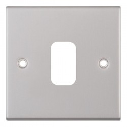 Selectric 5M GRID360 Satin Chrome 1 Gang Faceplate