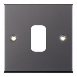 Selectric 5M GRID360 Black Nickel 1 Gang Faceplate
