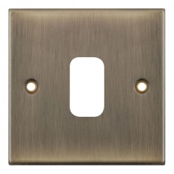 Selectric 5M GRID360 Antique Brass 1 Gang Faceplate