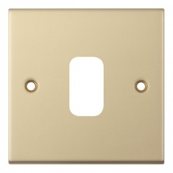 Selectric 5M GRID360 Satin Brass 1 Gang Faceplate