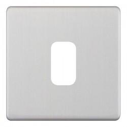 Selectric 5M-Plus GRID360 Satin Chrome 1 Gang Faceplate