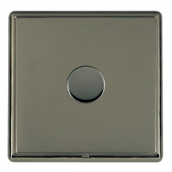 Hamilton Linea-Rondo CFX Black Nickel/Black Nickel Push On/Off Dimmer 1 Gang 2 way with Black Nickel Inse...