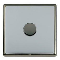 Hamilton Linea-Rondo CFX Black Nickel/Bright Steel Push On/Off Dimmer 1 Gang 2 way with Black Nickel Inse...