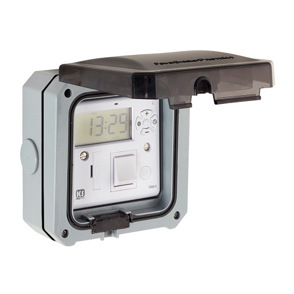 Outdoor Timer Box Gray Weatherproof UV Resistant Irrigation System Accessories