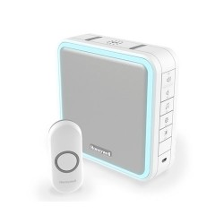 Honeywell Series 9 White Wireless Portable Doorbell with Push Button (Portrait)