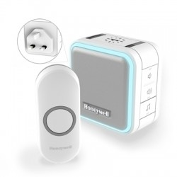 Honeywell Series 5 White Wireless Plug-In Doorbell with Push Button (Portrait)