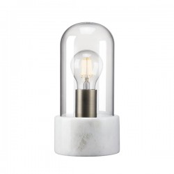 Nordlux Siv Bell Jar White Marble Table Lamp