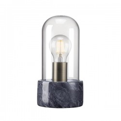 Nordlux Siv Bell Jar Black Marble Table Lamp