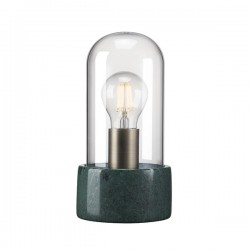 Nordlux Siv Bell Jar Green Marble Table Lamp