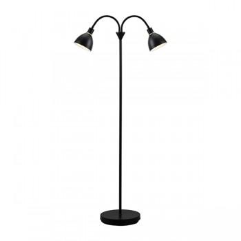 Nordlux Ray Double Black Floor Lamp