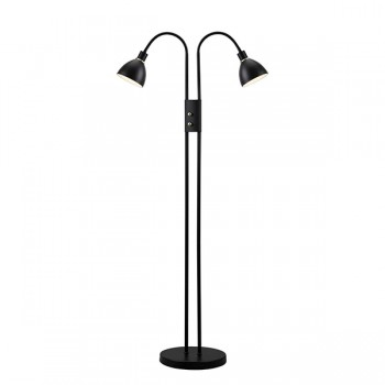 Nordlux Ray Double Black Dimmable Floor Lamp