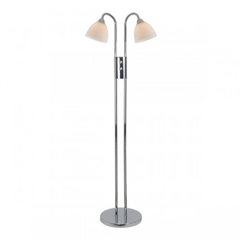 Nordlux Ray Double Chrome Dimmable Floor Lamp