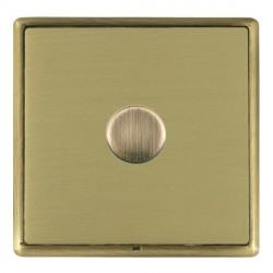 Hamilton Linea-Rondo CFX Antique Brass/Satin Brass Push On/Off Dimmer 1 Gang Multi-way Trailing Edge with...