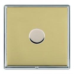 Hamilton Linea-Rondo CFX Bright Chrome/Polished Brass Push On/Off Dimmer 1 Gang Multi-way Trailing Edge w...
