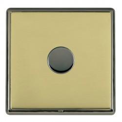 Hamilton Linea-Rondo CFX Black Nickel/Polished Brass Push On/Off Dimmer 1 Gang Multi-way Trailing Edge wi...