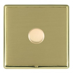 Hamilton Linea-Rondo CFX Polished Brass/Satin Brass Push On/Off Dimmer 1 Gang Multi-way Trailing Edge wit...
