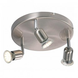 Nordlux Avenue LED Triple Round Brushed Steel Spotlight
