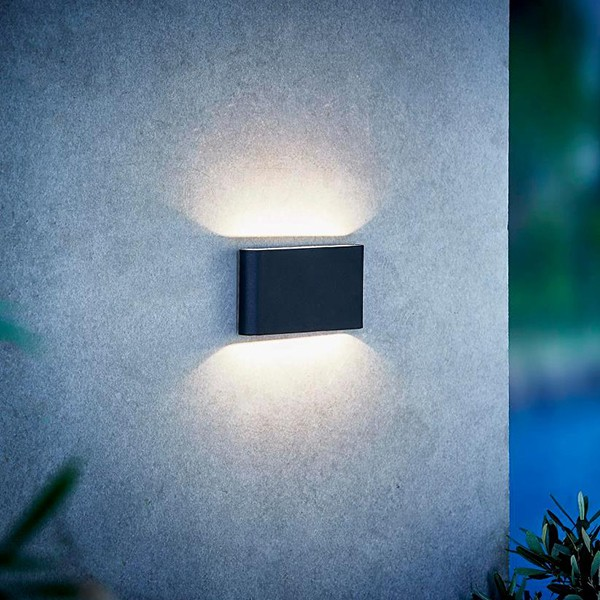 Nordlux Kinver Up Down Black Outdoor Wall Light 84181003 At Ukes