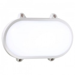 Nordlux Moon Oval White Outdoor Wall Light