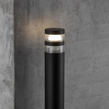 Nordlux Birk Black Outdoor Bollard Light