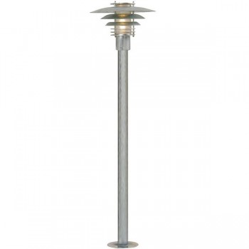 Nordlux Phoenix Mini Galvanised Steel Outdoor Bollard Light