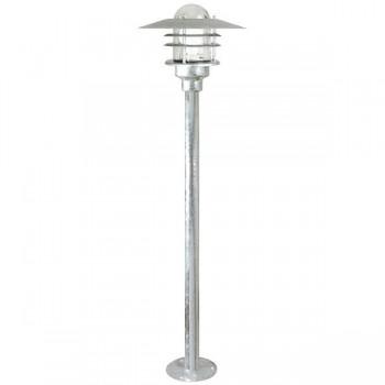 Nordlux Agger Galvanised Steel Outdoor Bollard Light