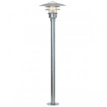 Nordlux Lonstrup 32 Galvanised Steel Outdoor Bollard Light