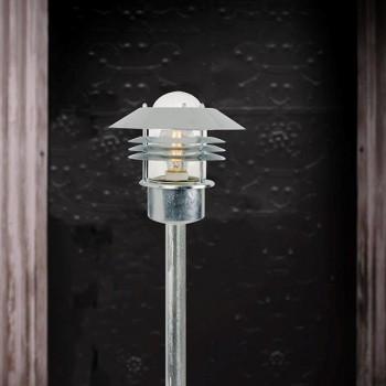 Nordlux Vejers Galvanised Steel Outdoor Bollard Light