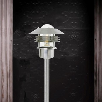 Nordlux Vejers Stainless Steel Outdoor Bollard Light