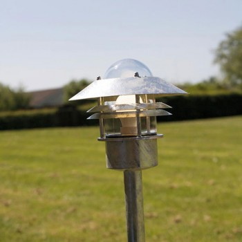 Nordlux Blokhaus Galvanised Steel Outdoor Bollard Light