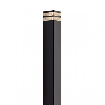 Nordlux Elm Black Outdoor Bollard Light