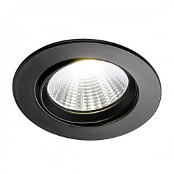 Nordlux Energetic Fremont 4000K Adjustable Black LED Downlight Kit